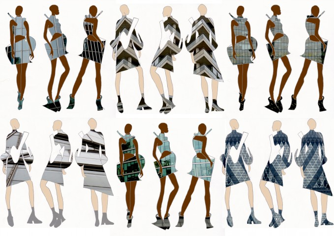 Fashion design model sketches 6