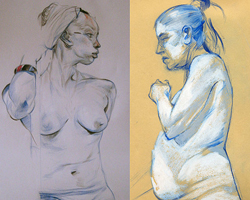 Life in Colour Evening Class - Colour Pastel Figure Drawing