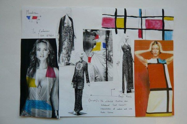 Textiles Mood Board London Art Portfolio